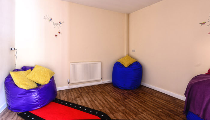 Sensory room at The Old Vicarage, Ironville
