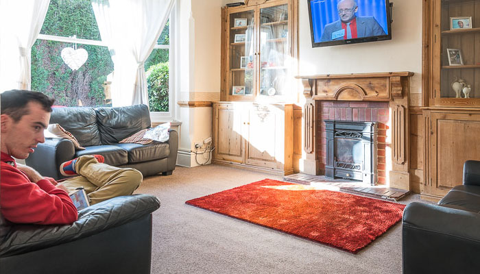Living room at The Spinnies, Linby